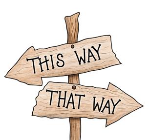This Way That Way vierkant