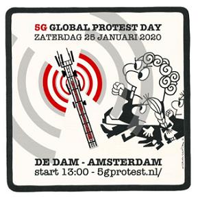5G Protest dag 25-02-2020 Amsterdam